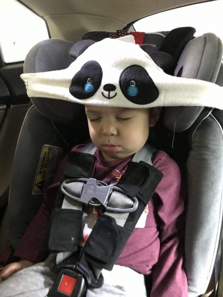 toddler travel gear: toddler head support car seat