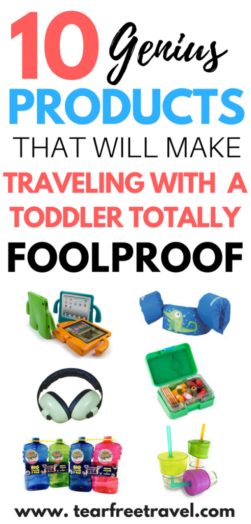Toddler travel is tough! In this post I will cover the most genius toddler travel products and my favourite travel tips for toddlers to help make your next vacation perfect. I've got the best travel ideas for toddlers, including a list of my favourite travel gear for kids. If you are going to travel with your toddler you'll want these tips. Pin this for your next toddler travel adventure! #toddlertravel #travelideasfortoddler #traveltoddler