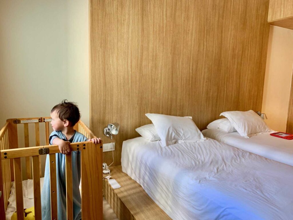 Finest Playa Mujeres Family Suite with a Portable Crib Set Up