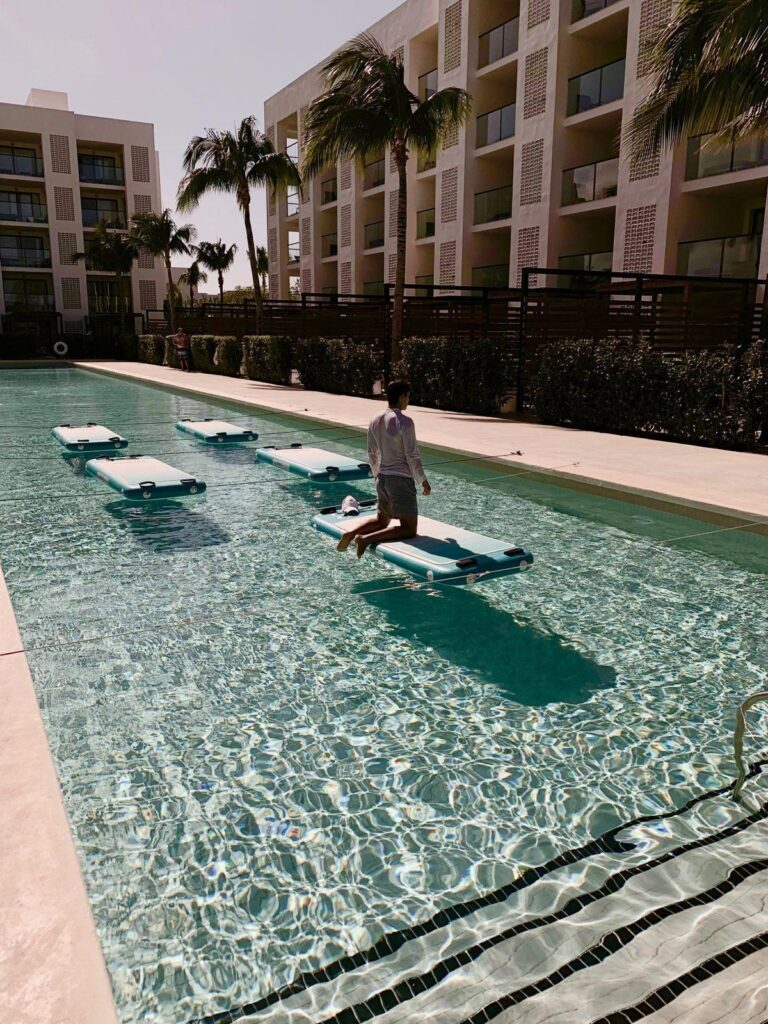A stand up paddle board exercise class!