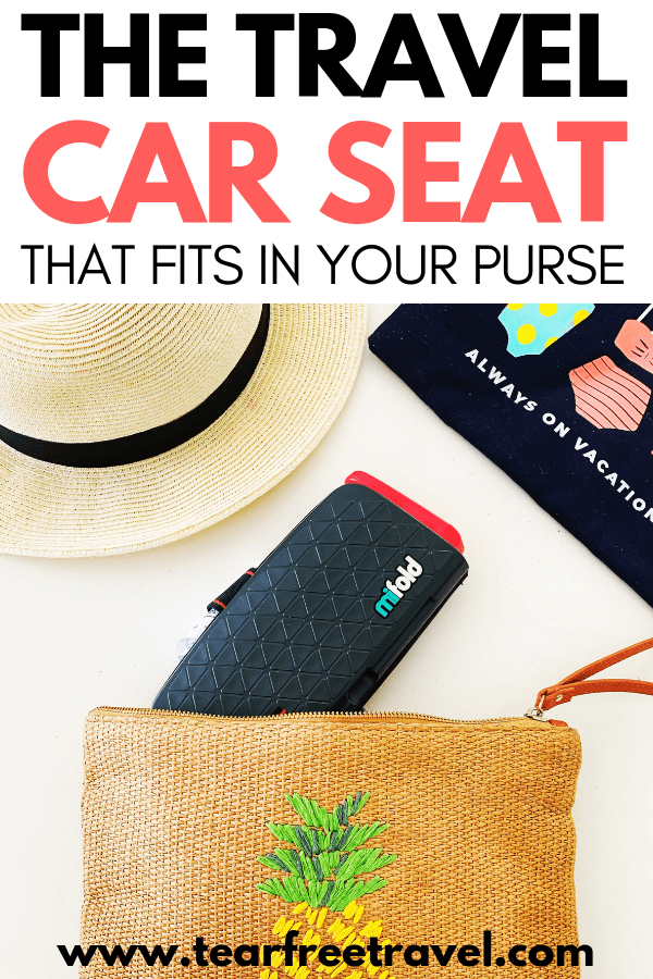 The Best Portable Car Seat for Travel! We'll outline the best portable car seats for travel for babies, toddlers and older kids. Find out which car seat is so small it will fit in your purse. Keep your kids safe and your luggage minimal with these awesome toddler car seat options! #familytravel