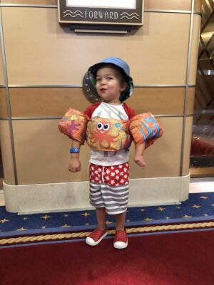 3.5 year old on the Disney Dream
