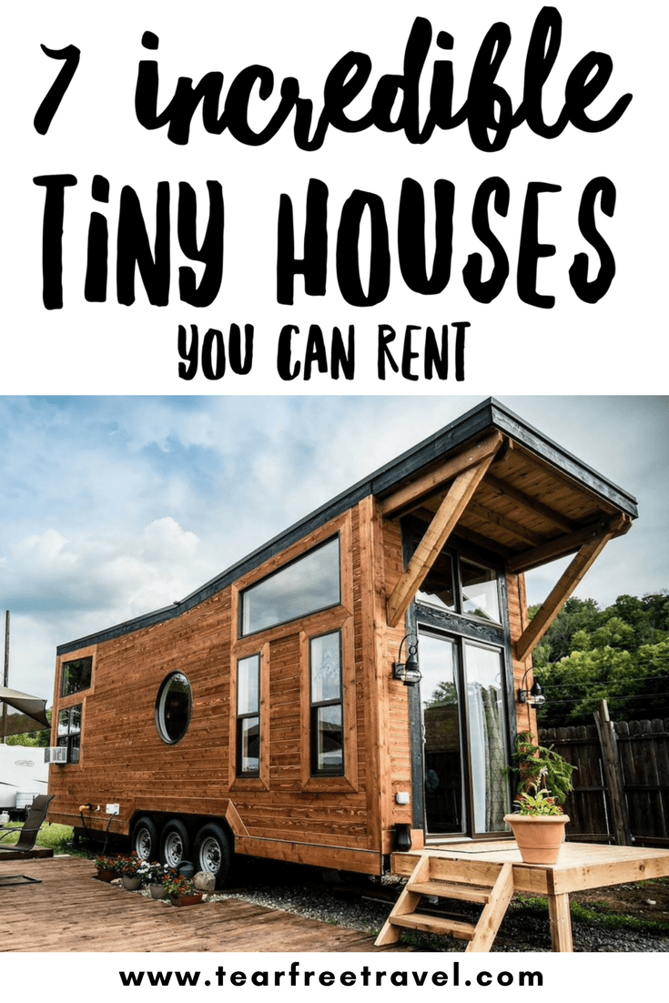 Have you wanted to try out tiny house living but can't imagine living in a small space full-time? Check out these amazing tiny house rental properties in the US that would be perfect for your next family vacation! Tiny house vacation rentals give you an chance to enjoy the amazing interiors and space saving designs without having to 'live tiny' yourself! #tinyhouse #tinyhousevacation #tinyhousevacationrental #familyvacation #travelwithkids #wanderlust #tinyhouserental