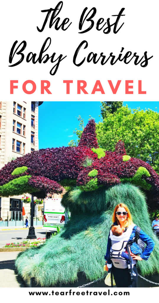 Headed on vacation with a baby? Add a travel baby carrier to your MUST-PACK list. We seriously could NOT function without babywearing while traveling! Here is my guide to choosing the best baby carrier for travel. I've listed some of my favoritebaby carriers (that I've personally tried!) for babywearing on vacation. See what I recommend for the baby wearing on the airplane and while on your trip! #babywearing #babycarrier #baby #babytravel