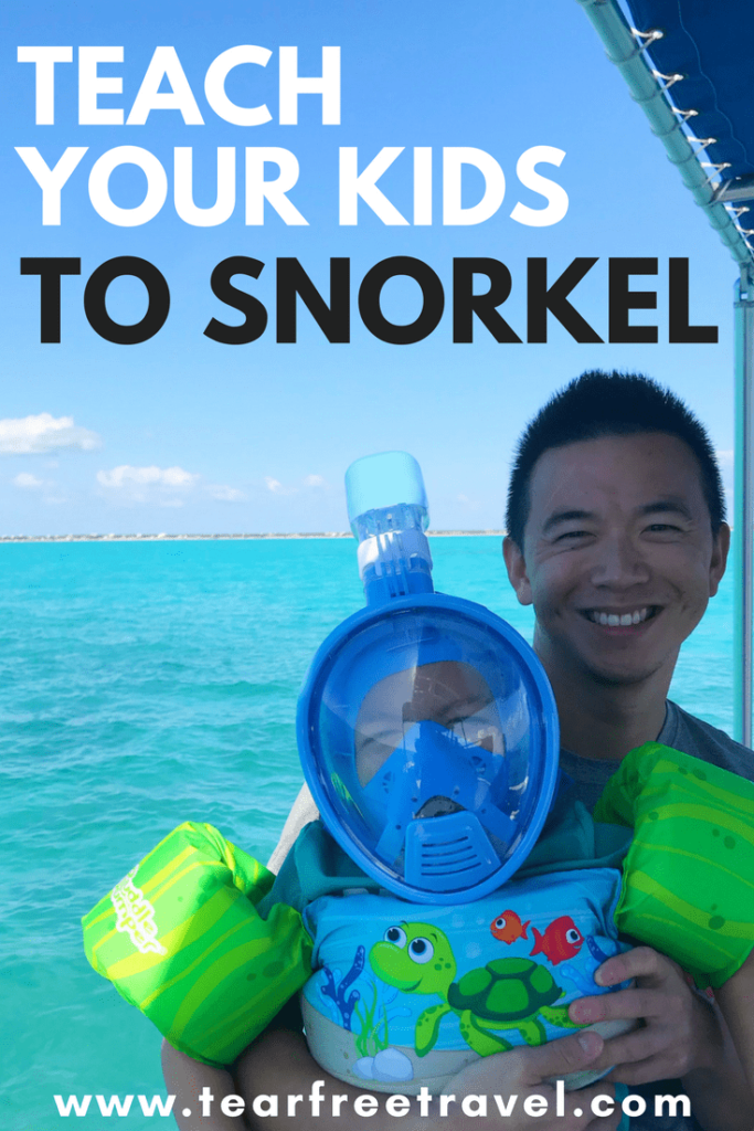 Are you planning a family snorkeling adventure? Click through to read all my best tips for teaching your kids to snorkel. Snorkeling with kids is easy if you have the right gear and motivation. I'll review all the best strategies for teaching even young kids to snorkel. If my 3 year old can do it, anyone can! Pin this for your next hot vacation. #snorkel #snorkeltips #vacation