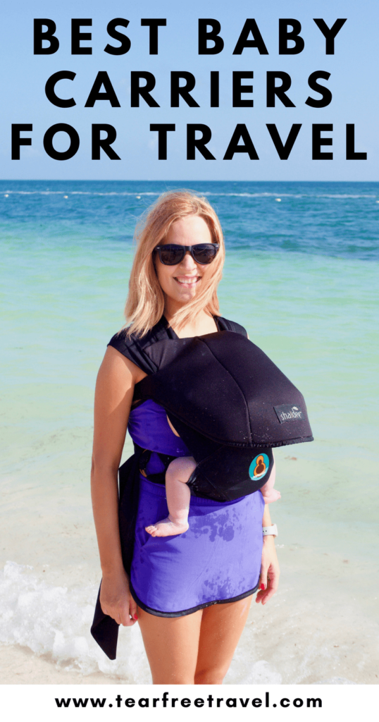 Headed on vacation with a baby? Add a travel baby carrier to your MUST-PACK list. We seriously could NOT function without babywearing while traveling! Here is my guide to choosing the best baby carrier for travel. I've listed some of my favoritebaby carriers (that I've personally tried!) for babywearing on vacation. See what I recommend for the baby wearing on the beach! #babywearing #babycarrier #baby #babytravel