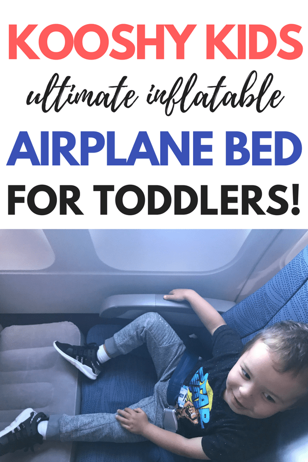 If you haven't seen these inflatable footrests for the airplane, you have got to check out this genius travel hack for toddlers. This inflatable toddler travel beds for the airplane was essential for my last airplane trip with a toddler. These travel pillows are a total game changer for getting your kids to sleep on an airplane. My son slept like a baby on this thing! My my entire review of the kooshy kids kooshion. Travel gear for kids on the airplane that you don't want to leave home without. #travelgear #toddler #travel #familytravel