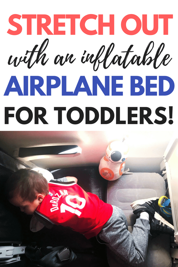 The most genius toddler travel hack! You have got to check out this inflatable toddler travel beds for the airplane. It was so essential on our last airplane trip my toddler. My son slept like a baby on this toddler travel pillow! This is a must-pack item for your next family trip! My my entire review of the kooshy kids kooshion. Travel gear for kids on the airplane that you don't want to leave home without. #airplanegear #toddlertravel #kidstravel #familyvacation #vacation