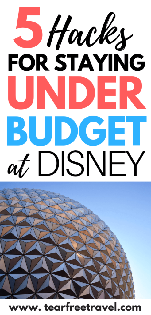 Do you want to spend less at Disney? These 5 budget saving hacks will help you save money on your Disney Vacation. Disney does not have to break the bank! These quick hacks will save you money and keep you on budget for your Disney World vacation. Don't plan your trip without these in mind! #disney #vacation #disneyvacation #disneyworld #familyvacation #familytrip #familytravel