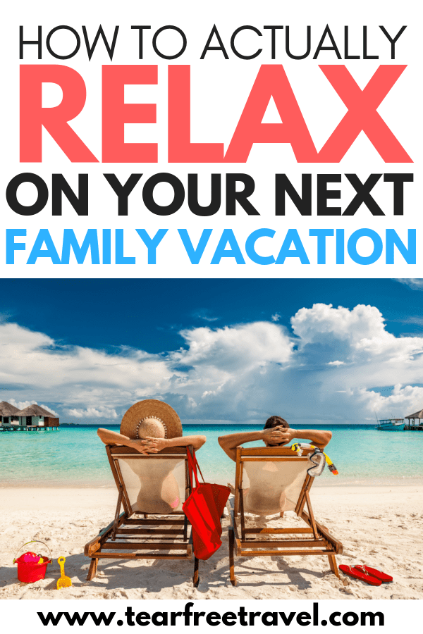 How to relax on your next family vacation! Relaxing on a family trip is not always easy! It's hard to balance wanting to do it all, and trying to keep some semblance of routine and downtime for the kids. Enjoying a family vacation shouldn't be such a challenge. Here are 5 easy strategies to make your next family vacation a sure bet. #familyvacation #travel #vacation #familytravel #familytrip #trip