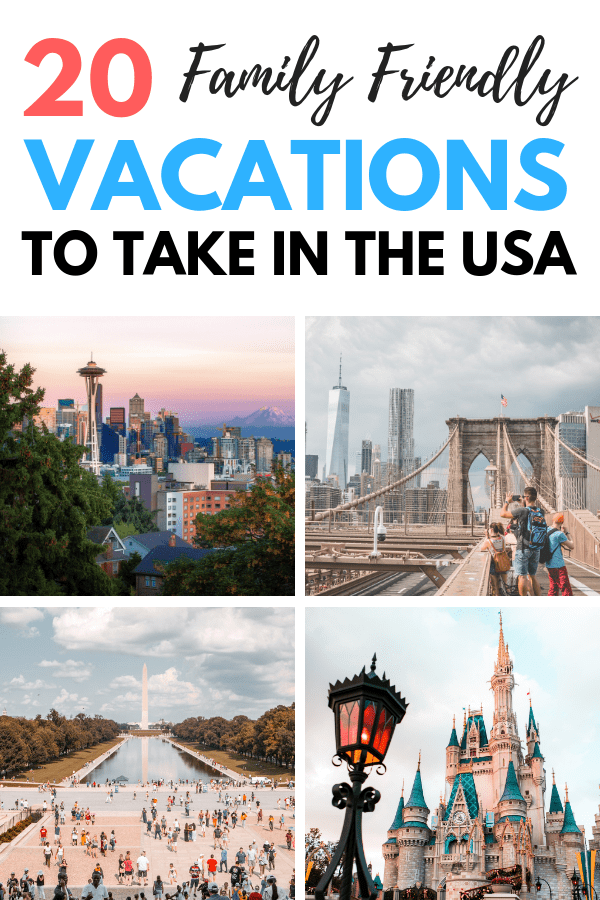 Planning a family vacation? Check out these awesome US family vacation destinations. We have something for everyone whether you like adventure, relaxation, activities or nature. These US family vacation spots are perfect for your next family trip. These kid-friendly US cities are the perfect spots for your next family adventure. Pin these vacation ideas for later! #vacation #familyvacation #vacationdestinations #travel #travelwithkids #usfamilyvacationdestinations