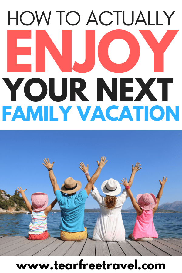 Yes, you CAN enjoy a family vacation! Learn how to slow down and destress on a vacation with kids. Relax on your next family vacation with these 5 tips to keep your next family vacation fun and laid back. Don't leave home without these 5 family vacation tips! #familytravel #familyvacation #traveltips #vacation #travel #vacationtips #travelwithkids #kidstravel