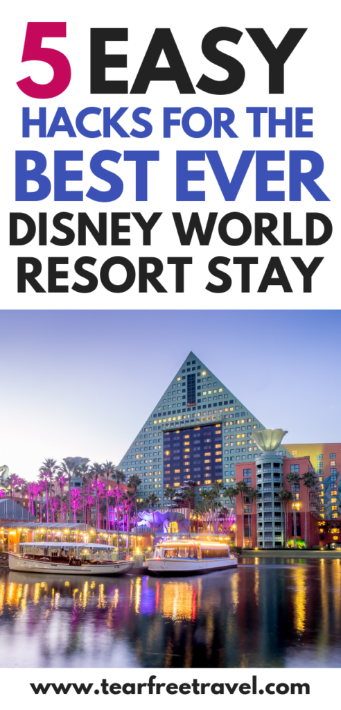 On your next trip to Disney World why not stay at a Disney World resort. These Disney Resort hacks will make your next Disney Vacation even more magical. These simple tips will help you to choose the best Disney resort for your next Disney World trip. #disney #disneyworld #disneyresort #familyvacation