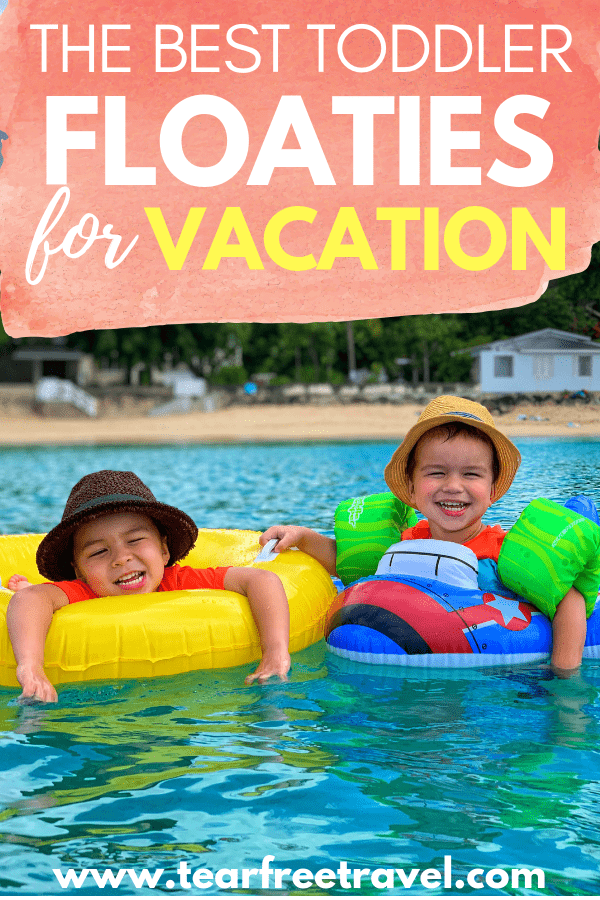 Looking for the best toddler floaties? Check out my list of the best toddler flotation devices and baby pool floats that give kids confidence to swim in the water. You won't want to leave for vacation without these! #toddlerlifejacket #toddlerfloatie #toddlerfloat #poolfloat #poolfloatie #vacation #vacationwithkids #kidstravel #toddlerswimvest #toddlerswim #babyswim #babylifejacket #infantlifejacket